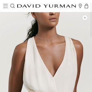 David Yurman Petite Cross Necklace